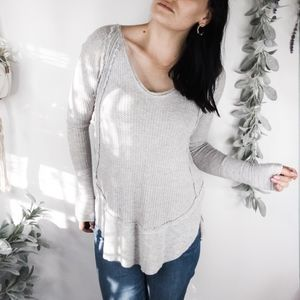 FREE PEOPLE WE THE FREE Catalina Thermal grey